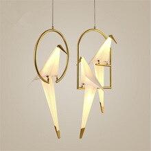 Nordic modern Creative Personality Birdie Bedroom pendant lights Bedside Balcony Restaurant Simple Crane hanging light fixtures