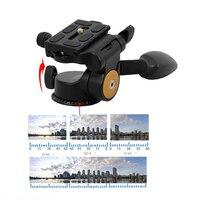 Photo Supplies 1Pcs Q08 Aluminum 3 Way Fluid Head Rocker Arm Video Tripod Ball Head Quick