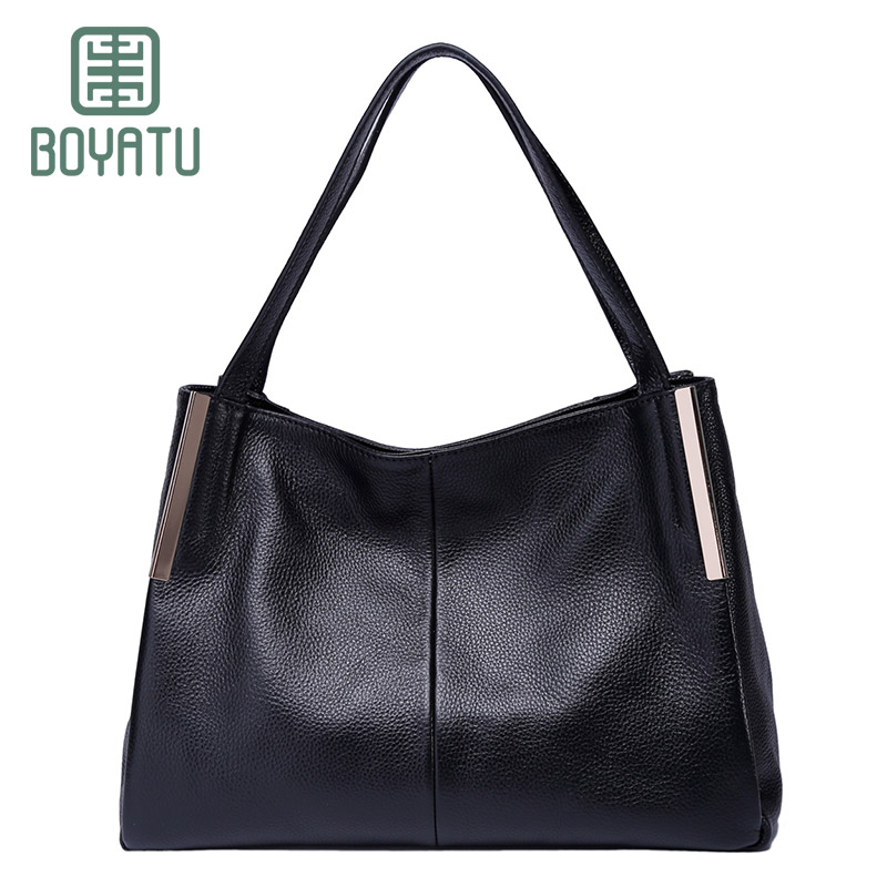 BOYATU Top Handle Bags Female Luxury Handbags Women Bags Designer Tote Bags for Women 2018 Genuin