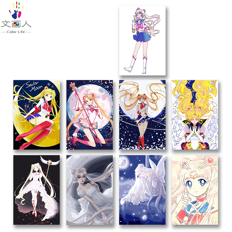 DIY colorings pictures by numbers with colors Sailor Moon Anime Moon goddess picture drawing painting by numbers framed HomeDIY colorings pictures by numbers with colors Sailor Moon Anime Moon goddess picture drawing painting by numbers framed Home