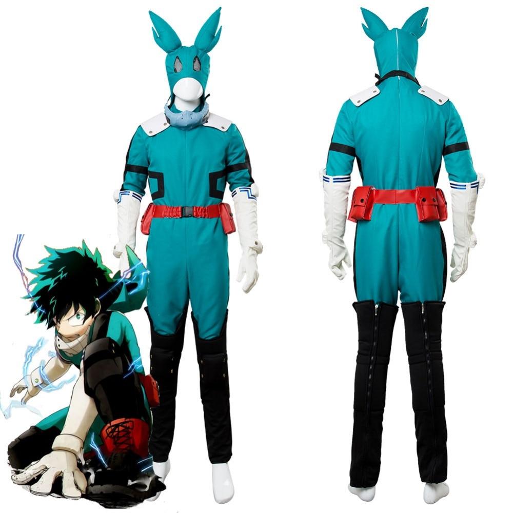 Boku no Hero Academia My Hero Academia Season 2 S2 Izuku Midoriya Cosplay Costume Battle Suit New Version
