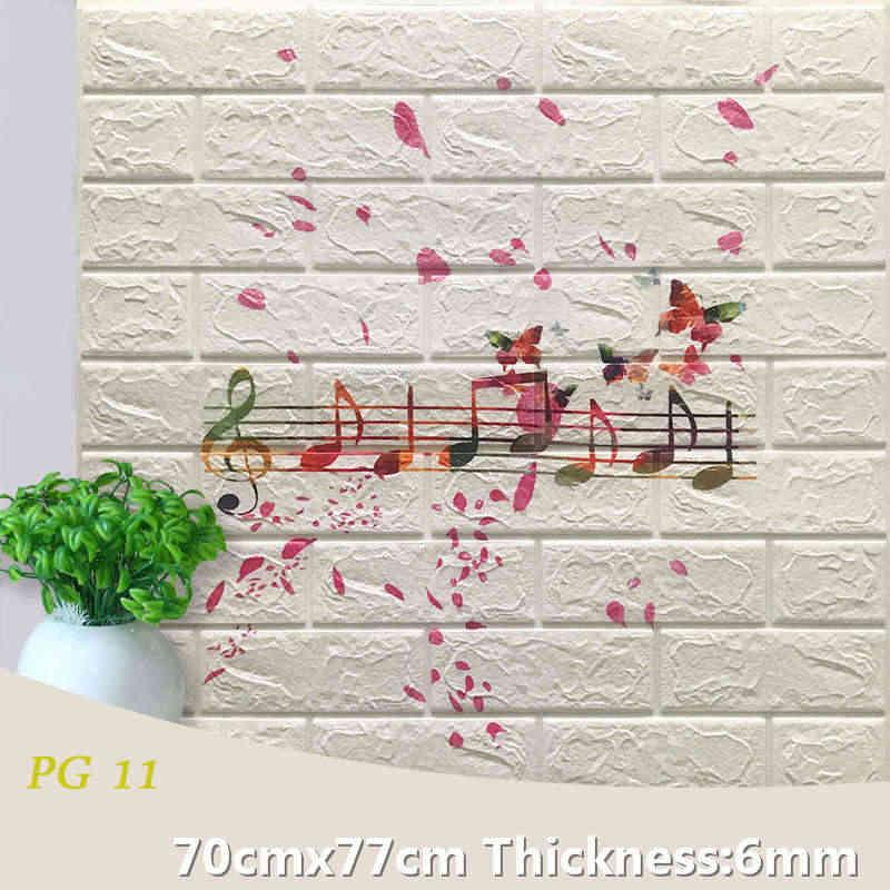 3D לבני קיר מדבקות סלון עמיד למים קצף חדר שינה DIY דבק טפט אמנות 77*70*0.6 cm בית קיר מדבקות