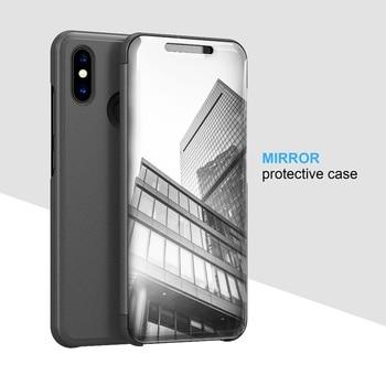 Case For Xiaomi mi8 cover xiaomi mi 8 Mi8 SE case Smart Flip Window view Electroplating Mirror Stand Holder Hard Case kimTHmall