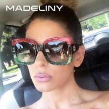 MADELINY Popular Sunglasses Luxury Women Brand Designer Squa