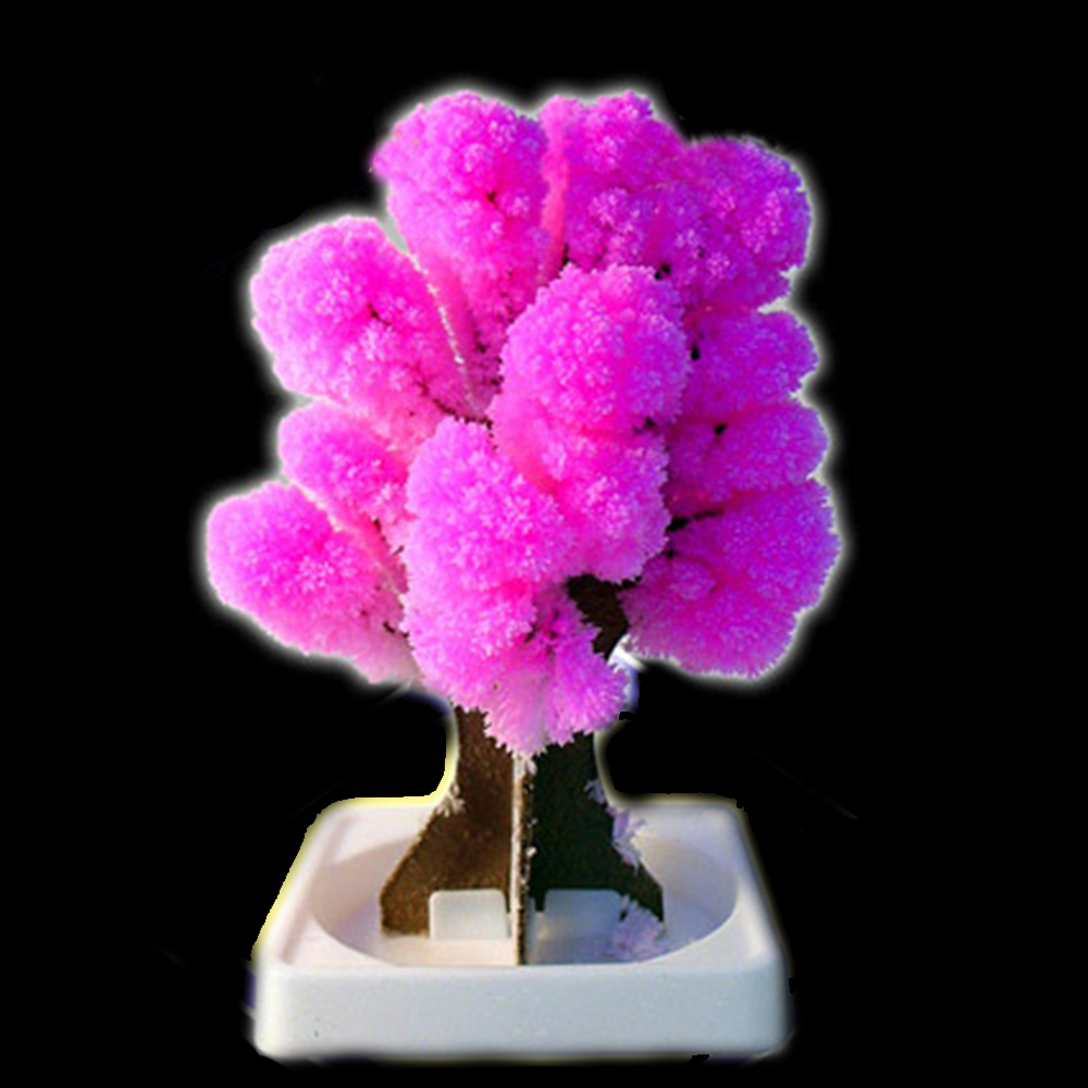 Novelty Toys DIY Magic Artificial Sakura Trees Paper Beautiful Full Blossom Cherry For Children Gift Educational Non-toxic Toy