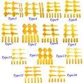 12 Pçs/set Acessórios Máquina de Pneu de Nylon Monte Demount Cabeça Inserir Protetores Protetor Rim Cambiador Do Pneu Aro Amarelo