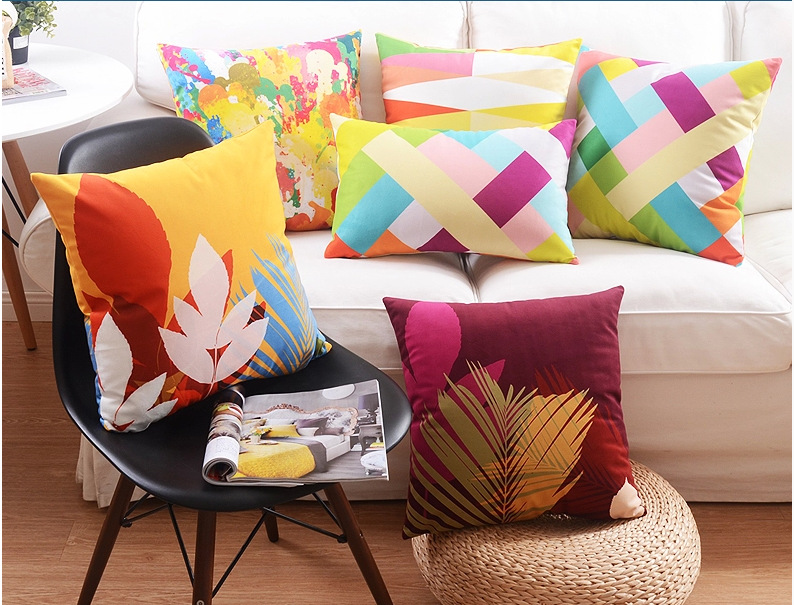 45 45cm feather cushion animal pillow colorful decorative - Coussin de decoration pour canape ...