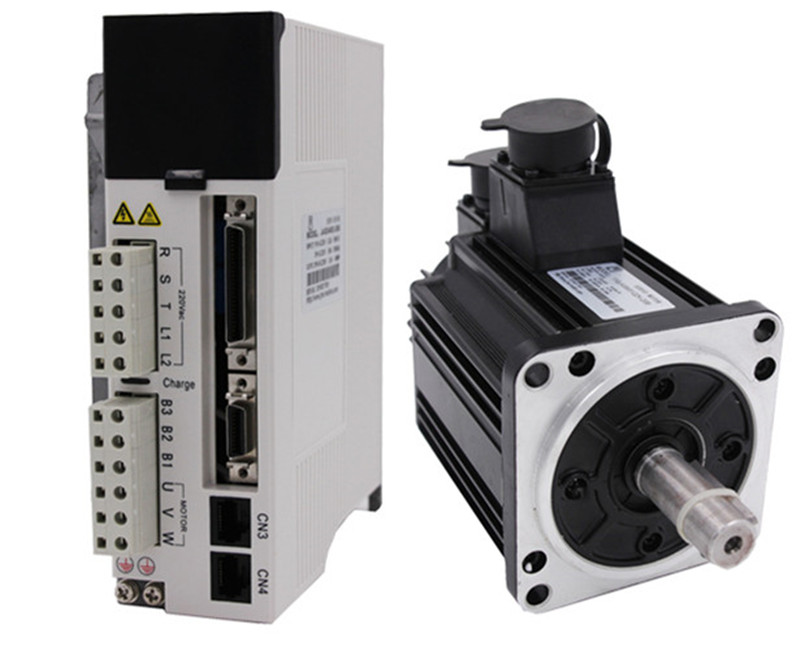 2kw 2000w 130mm 6 4Nm 3000rpm AC Servo Motor drive kit with 3m cable 20Bit AC220V