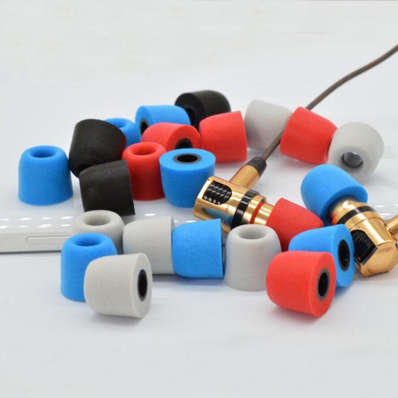 4.9mm Hole T400 Memory Foam Earphone Caps Cover In Ear Eartips Sponge Tips Ear Pads Earbuds Cups For Headset Headphone Earplug