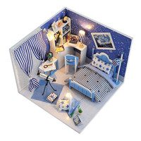 Nuovo Flever Dollhouse Miniature Kit FAI DA TE Casa Creativa Camera Puzzle Con Mobili e Copertura Assemblato Giocattolo Modello