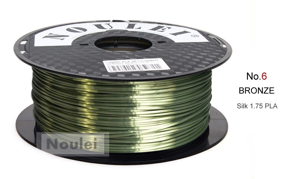 6 3D Printer Filament 1.75 SILK PLA BRONZE 1
