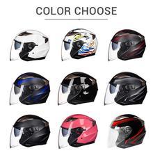 Open Face Dual Lens Visors Moto Helmet