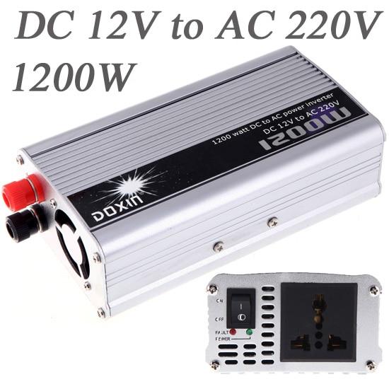 imágenes para 1200 W WATT DC 12 V Inversor Inversor Del Coche a AC 220 V Car Power Inverter 500 w Cargador Portátil convertidor Transformador