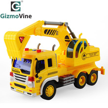 GizmoVine Details about Kids Engineering font b Vehicle b font Inertial Car Crane Truck Model font