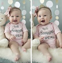 Infant Newborn kids letters printting Romper Baby Girl Romper Jumpsuit Cotton Clothes Outfit Playsuit