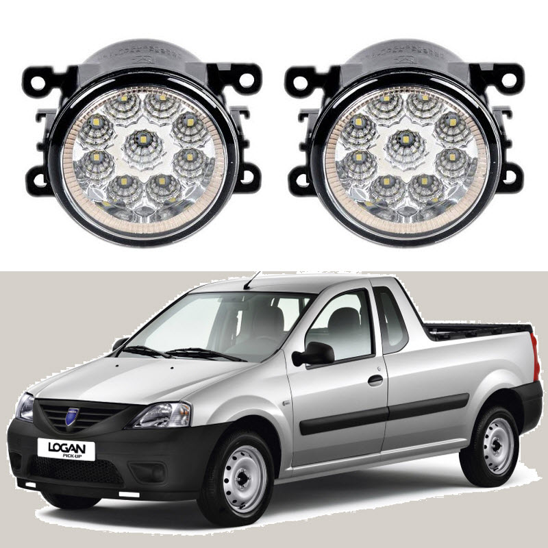 Car-Styling For Dacia LOGAN Pickup (US_) 2008-2010 9-Pieces Led Fog Lights 12V 55W Fog Head Lamp for dacia logan saloon ls