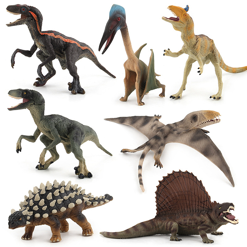 Jurassic Dinosaurs Toy Action Figures Tyrannosaurus Pterosaur Carnotaurus Model Plastic Animal Collection Toy For Children #E цена