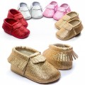 Romirus Matte & Bling Baby Girl Shoes Tassel Infant Baby Moccasins Toddler Shoes Newborn Baby Shoes First Walker 2210