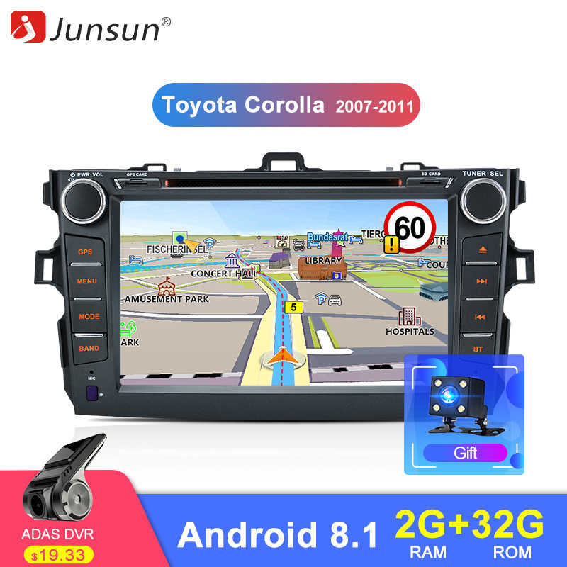 Junsun 2 din Android 8.1 Radio GPS Navigation Car DVD Player for Toyota Corolla 2007 2008 2009 2010 2011 2din Multimedia Stereo
