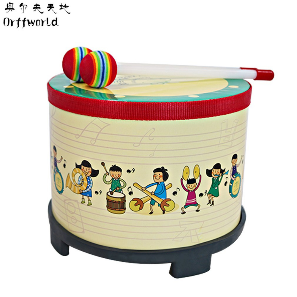 Orff World Children Toys Kindergarten Game Drum Musical Game Instrument Kids Wooden Percussion Toy Hand Drum Baby Learning Toys