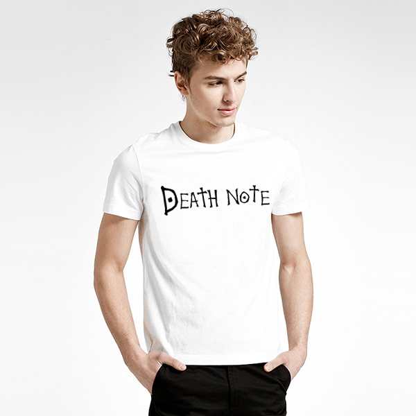 Promotion only 10 left T shirt Death Note T-shirt Japanese Anime Tshirt Male
