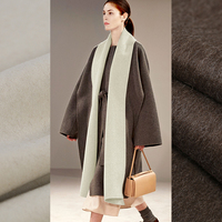 150CM Wide 850G/M Weight Double Faced Chocolate White Thick Wool Fabric for Autumn and Winter Dress Outwear Overcoat Jacket E522