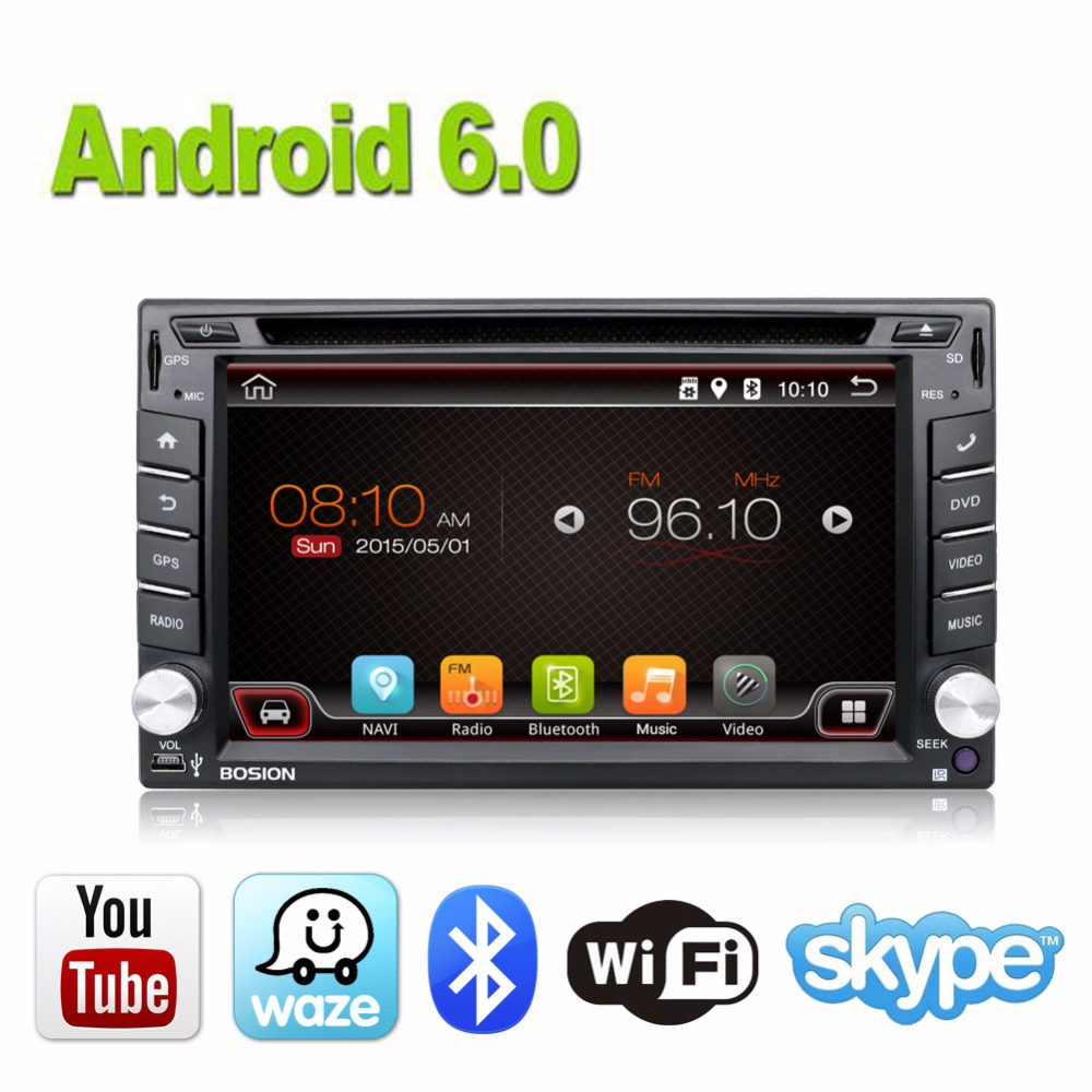 Universal 2din Android 6.0 Car DVD player GPS+Wifi+Bluetooth+Radio+Quad 4 Core+DDR3+Capacitive Touch Screen+3G+car pc+aduio+obd2 android 5 1 car radio double din stereo quad core gps navi wifi bluetooth rds sd usb subwoofer obd2 3g 4g apple play mirror link