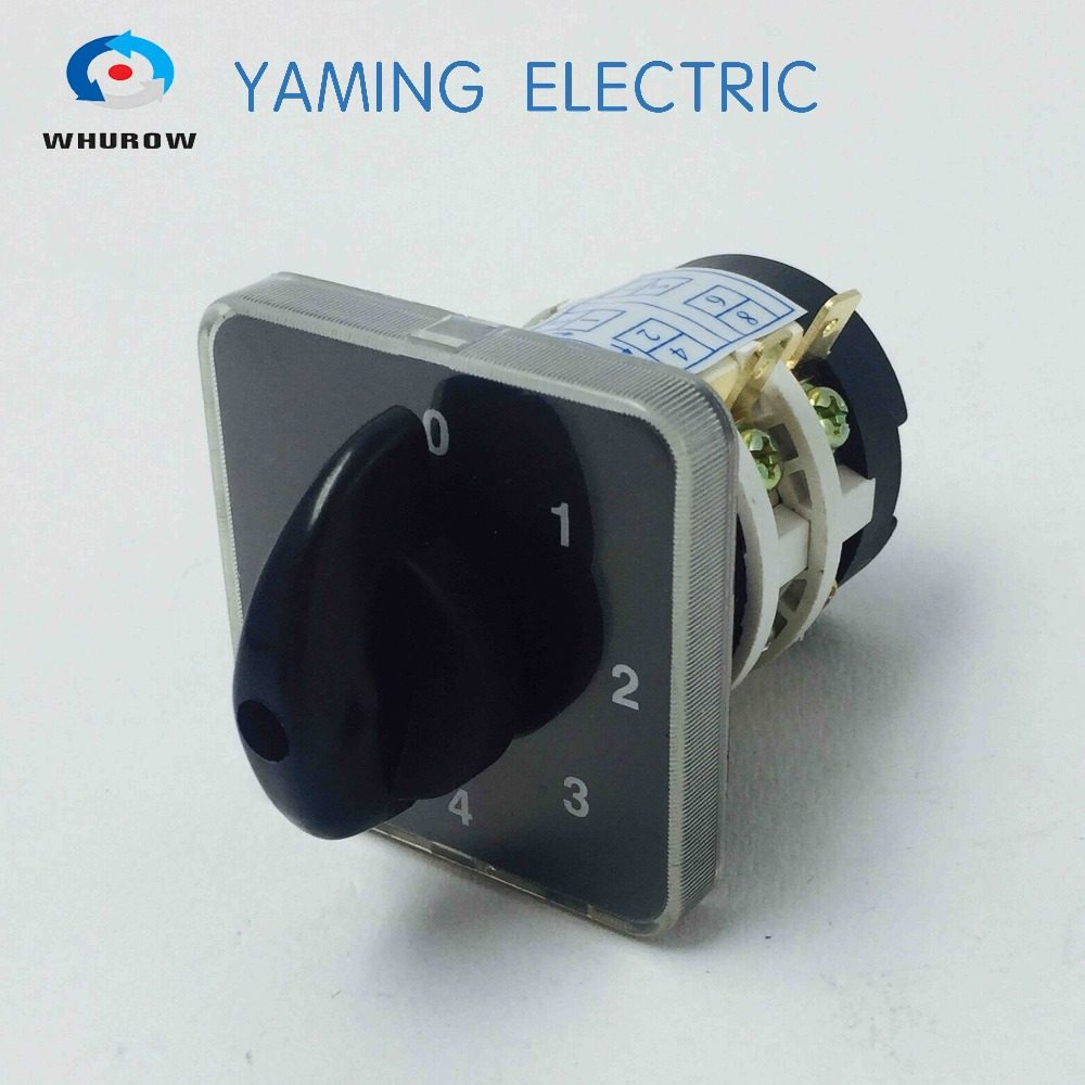 Online Shop 16a Rotary Switch 3 Phase 6 Position Selector Bremas Wiring Diagram Free Shipping 1pcs 0 4 660v 20a 2 Phases 8 Terminals Electrical