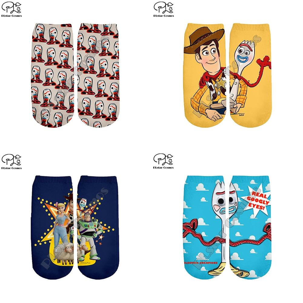 New Toy Story 3D Print forky   Socks   Women/men Ankle   Socks   Cartoon woody Buzz Lightyear harajuku anime   Socks   for teens child