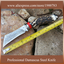 Counter strike knife cs go knife damascus steel blade camping knife hunting knife fixed blade handmade tool DT128
