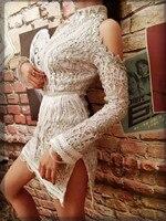 С длинными рукавами со стразами серебряные блестки платье Для женщин вечерние костюмы сексуальный яркий певица DJ Dance этап одежда Повседнев