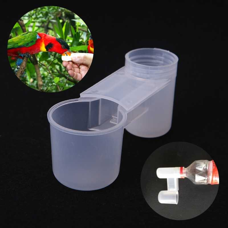 Plastic Pet Bird Drinker Feeder Water Bottle Cup For Chicken Pigeon Home Garden