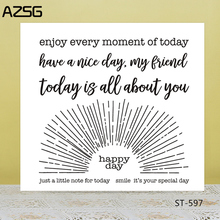 AZSG Happy happy every day Clear Stamps/Seals For scrapbooking DIY Card Making/Album Silicone Decoration crafts 13*13cm