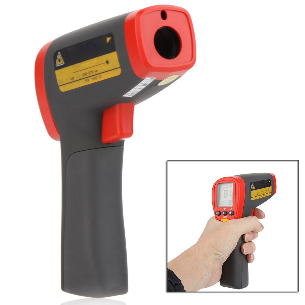 UNI-T UT302D 20:1 Infrared IR Thermometer Laser Temperature Gun Meter Range -32~1050 Centigrade/-26~1922 Fahrenheit new uni t ut302b 32 550 c 20 1 infrared thermometer