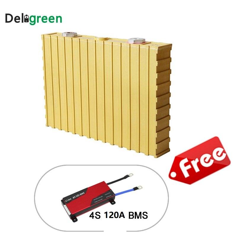 Batterie Rechargeable 12 V LifeYPO4 batterie 4 pièces 3.2 v Winston batterie 200Ah gratuite 4S120A BMS pour LifePO4 batterie pour système solaire