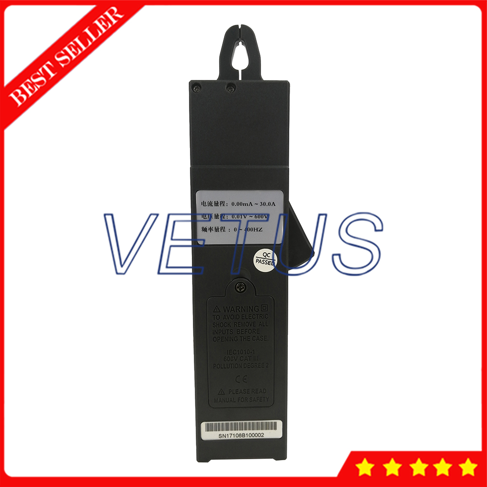 S108B Mini Clamp Current Leakage Meter With Voltage 0 to 600V Current 99 sets data save For Online test 380/220V power system - 4