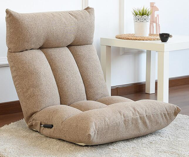 Floor Chair Adjustable Backrest And Headrest Folding Lazy Recliner Floor Seating Sofa Chair For Reading TV Watching Meditating