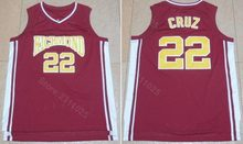 Ediwallen Men 22 Timo Cruz Movie Basketball Richmond Jerseys Sale Team Color Red Breathable Sport Embroidery And Sewing(China)