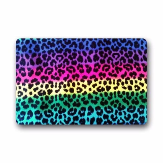 Colorful Rainbow Leopard Pattern Animal Doormats Floor Mat Door Mat ...