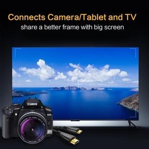 Image 5 - Mini HDMI a Cable HDMI 1080p 3D adaptador de alta velocidad enchufe chapado en oro para cámara monitor proyector notebook TV 1M, 1,5 m,2M,3M,5M