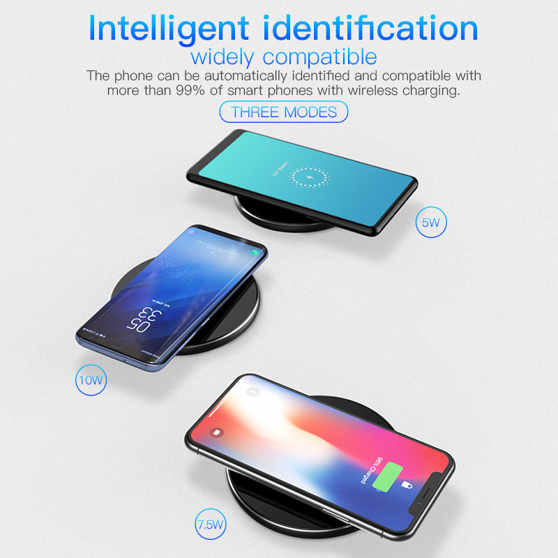 PZOZ Qi Wireless charger USB Charger Fast Charging Phone Adapter for iphone X 8 Plus Xs Samsung S9 S8 note 9 8 xiaomi mi mix 2s