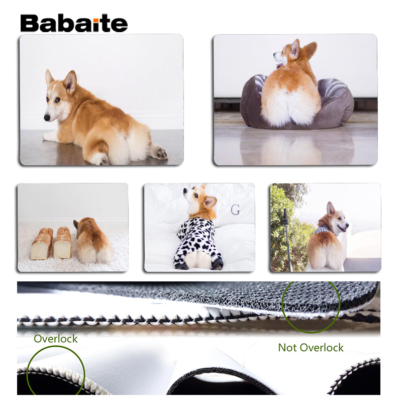 Babaite Welsh Corgi Large Mouse pad PC Computer mat Size for 25x29cm Gaming Mousepads