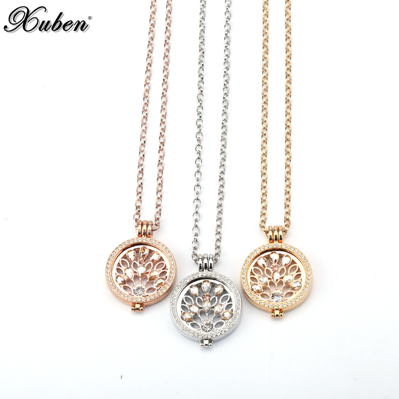 Interchangeable Disc Necklace: 2018 New 35 Mm Coin Holder Frame Necklace With 33 Mm Coins