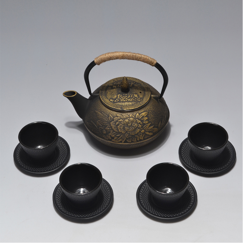 RUIDA Japanese Cast Iron Teacups Set Tea Cup Cups Drinkware 100ml Chinese Handmade Kung Fu Coffee Tools Health Care SD021