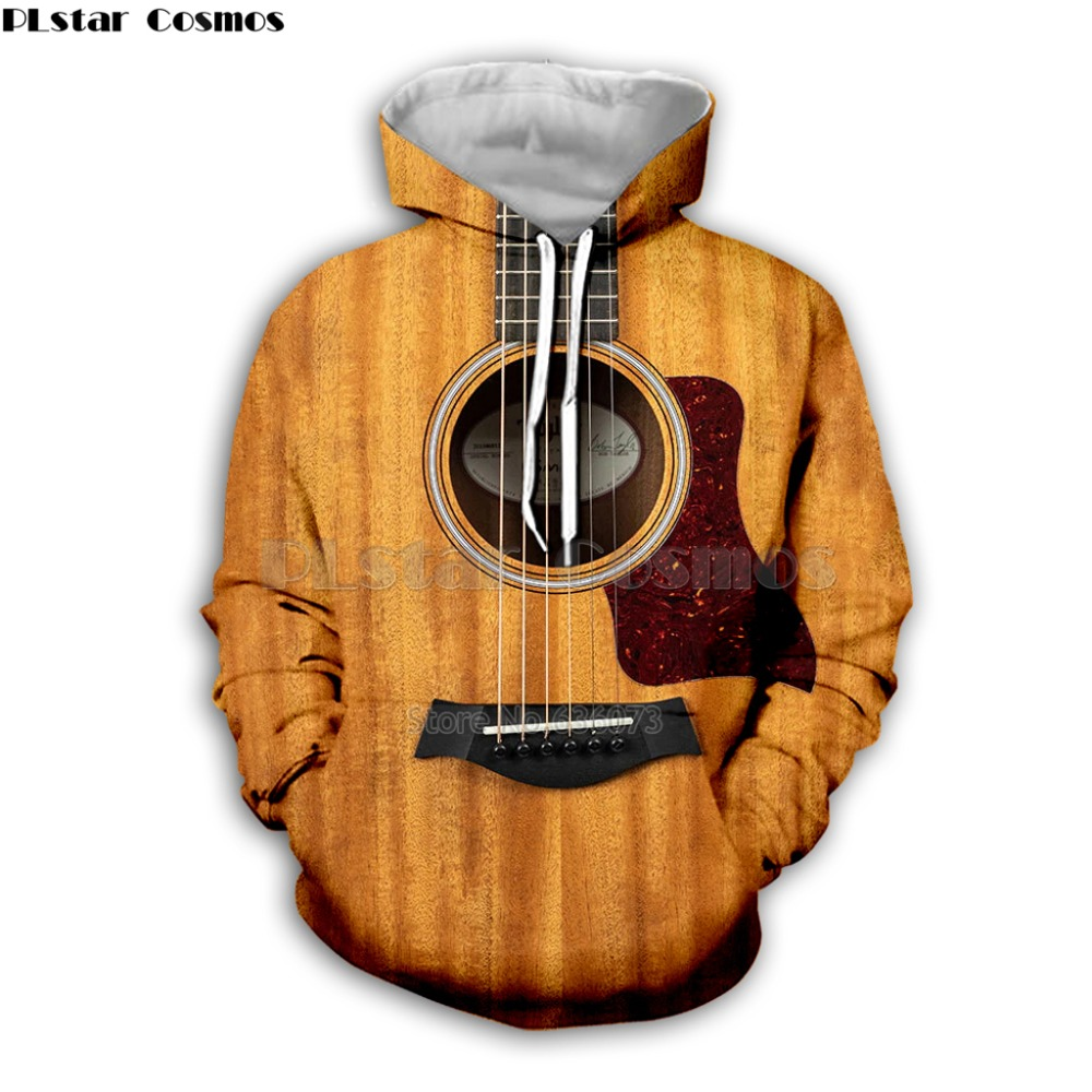 Guitar Art Musical Instrument 3D Print Long Sleeve Fashion Hoodie Hip Hop Tee Style Hooded Streetwear Casual Zipper Tops Style8