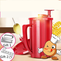 Manual Rotatory Handle Potato Slicer Machine Potato Tower Slicer Machine 3 In 1 Tornado Carrot Cutter Twisted Slicer