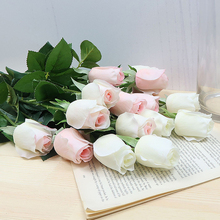 5pcs Artificial Rose Silk Flower Real Feel Floral Bouquet Home Indoor Wedding Party Decoration Holiday Gift DIY