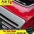 A & T car styling para Ford Kuga Escape chrome Grille tira de ajuste 2013-2015 para Kuga cara frontal parrilla pegatinas resaltar ajuste