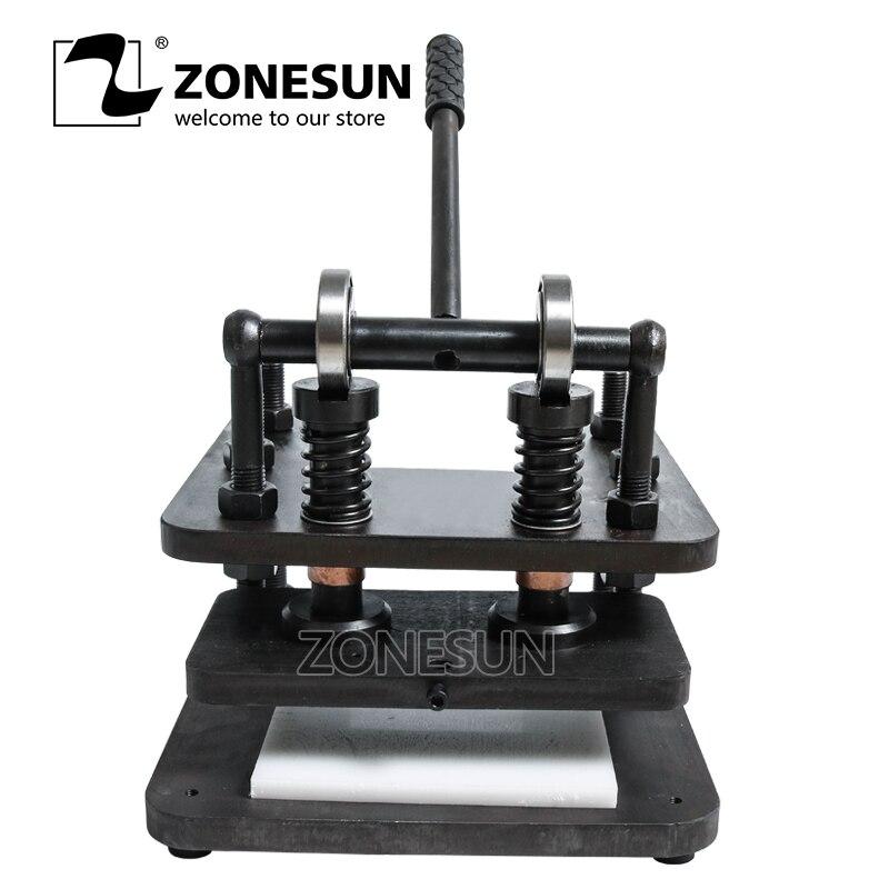 ZONESUN 2613 cm main en cuir machine de découpe bricolage portefeuille sac papier photo PVC/EVA feuille moule coupe en cuir outil de découpe