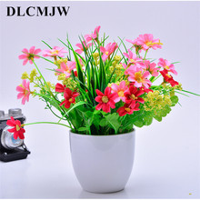 Artificial Plants Bonsai Green Grass Plastic plant flowers for Home Garden Decoration artificial Plant Fake